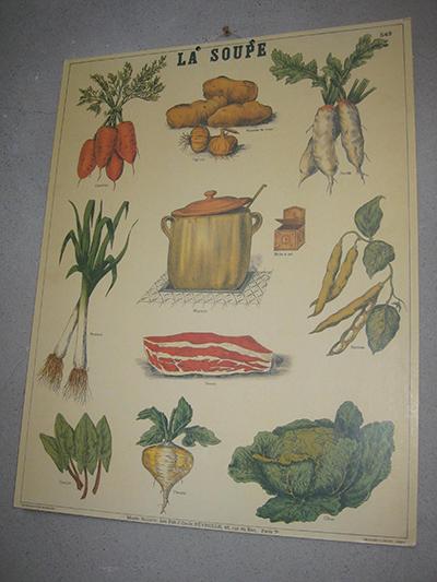 Affiche légumes