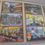 Affiches couloir d'exposition