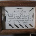 Cadre d'écriture à la plume