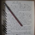 Cadre d'écriture à la plume 2