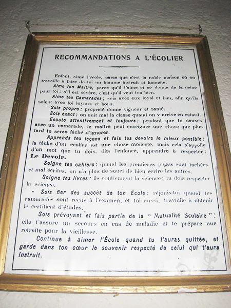 Tableau recommandations