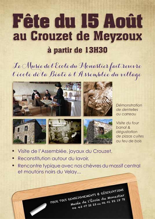 fête au Crouzet de Meyzous le lundi 15 août 2016